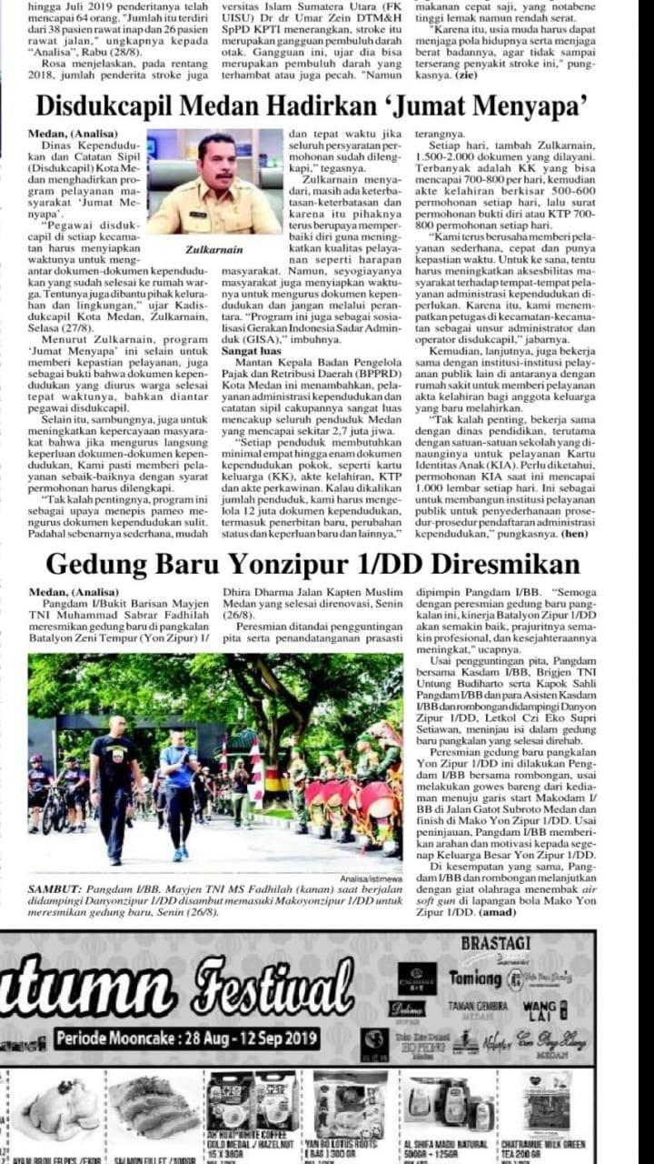 Gedung Baru Yonzipur 1/DD diresmikan