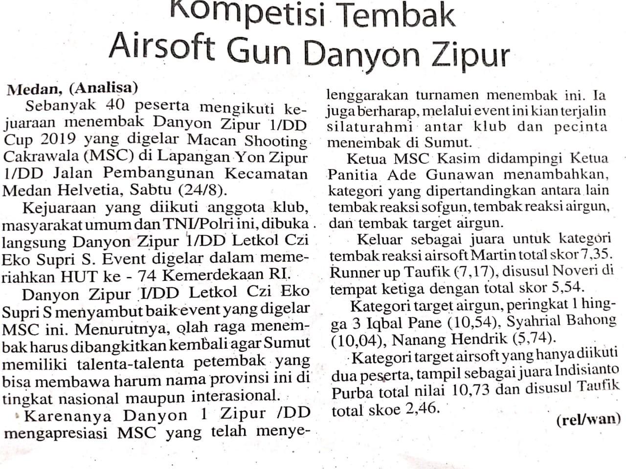 Kompetisi Tembak Airsoft Gun Danyon Zipur