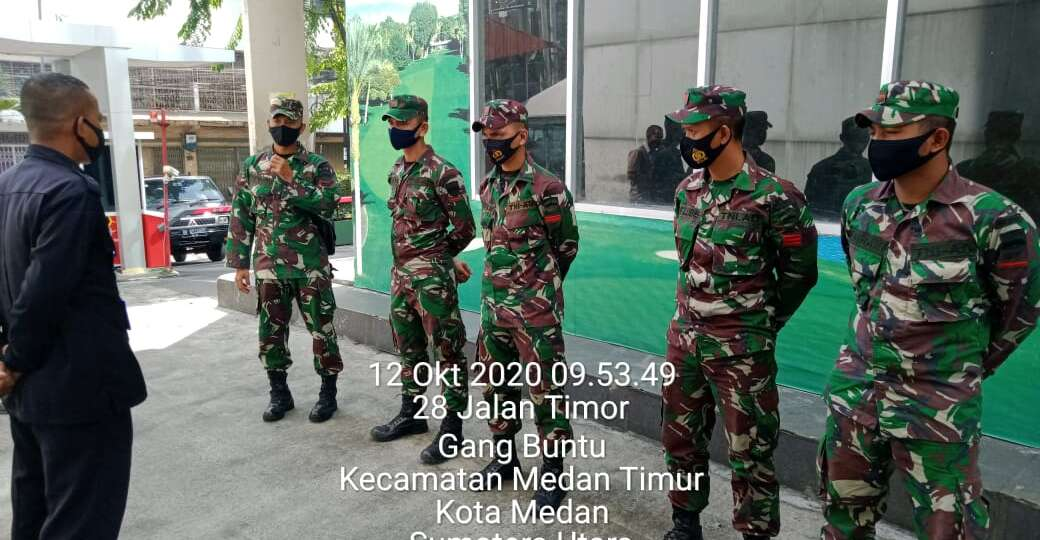 Pengawasan Security beserta TNI dari ZIPUR 1