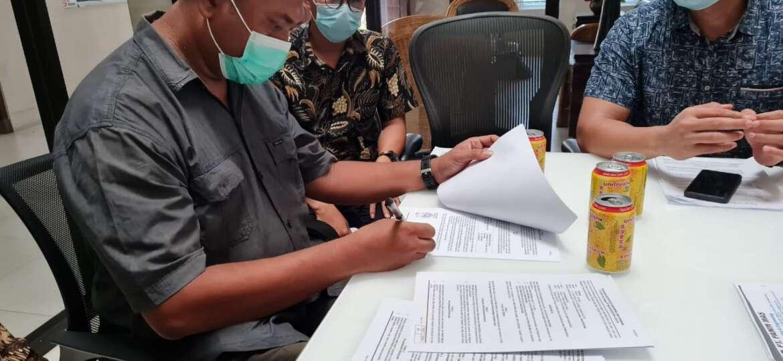 Penandatangan Kontrak PT. CINTA RAJA dengan PT. MACAN SEJAHTERA CAHAYA.