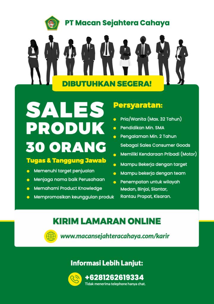 Lowongan Kerja Sales Produk